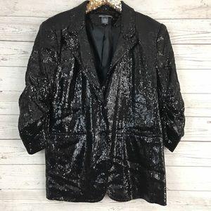 Chelsea & Theodore full sequin stretch blazer